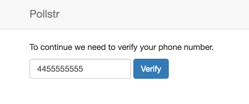 Screen Capture of Number Verification Form