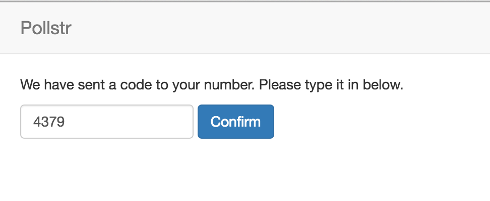 Screengrab of 2 Factor Authentication Form