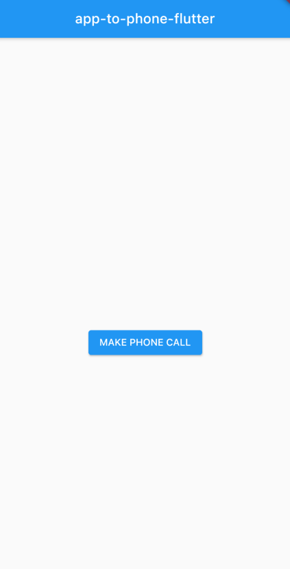 Make a phone call UI state