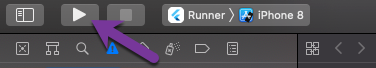 Running the application from xcode